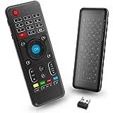 PC Telecomando per TV Box con Mini Tastiera Touchpad Air Mouse Asse Somatosensoriale a Raggi Infrarossi, 2,4G Ricevitore USB per PC, Laptop, HTPC, Andorid TV Box, XBox, Kodi, Presentazioni di Slide