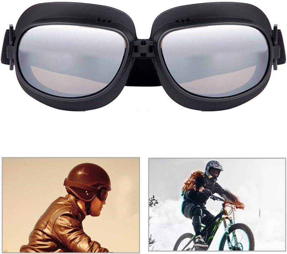 Triclicks Occhiali da Moto//Aviatore//Motocross//Casco//Protezione//Sport Vintage Classico