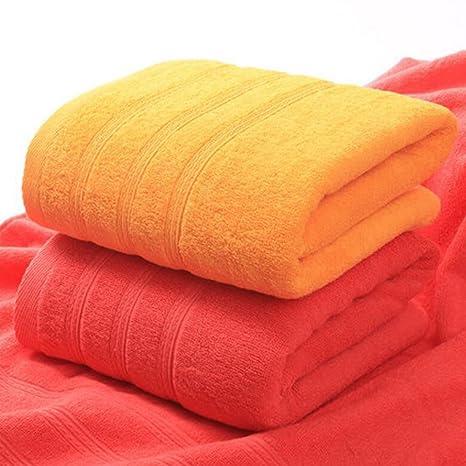 Wddwarmhome Toallas de baño de color rojo y naranja Toallas de algodón absorbente Paras de hombre