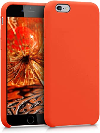 kwmobile Cover per Apple iPhone 6 / 6S - Cover Custodia in Silicone TPU - Back Case Protezione Cellulare Arancione Fluorescente