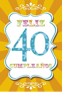 Twizler Tarjeta De Felicitación De 40 Cumpleaños Con Texto