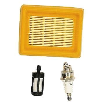 Aire Filtro de combustible bujías para STIHL cortadora Stihl FS120 FS200 FS250 FS300 FS350 FS400 FS450: Amazon.es: Jardín