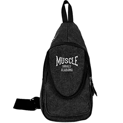 Muscle Shoals Alabama Fashion Men's Bosom Bag Cross Body New Style Men Canvas Chest Bags on sale
