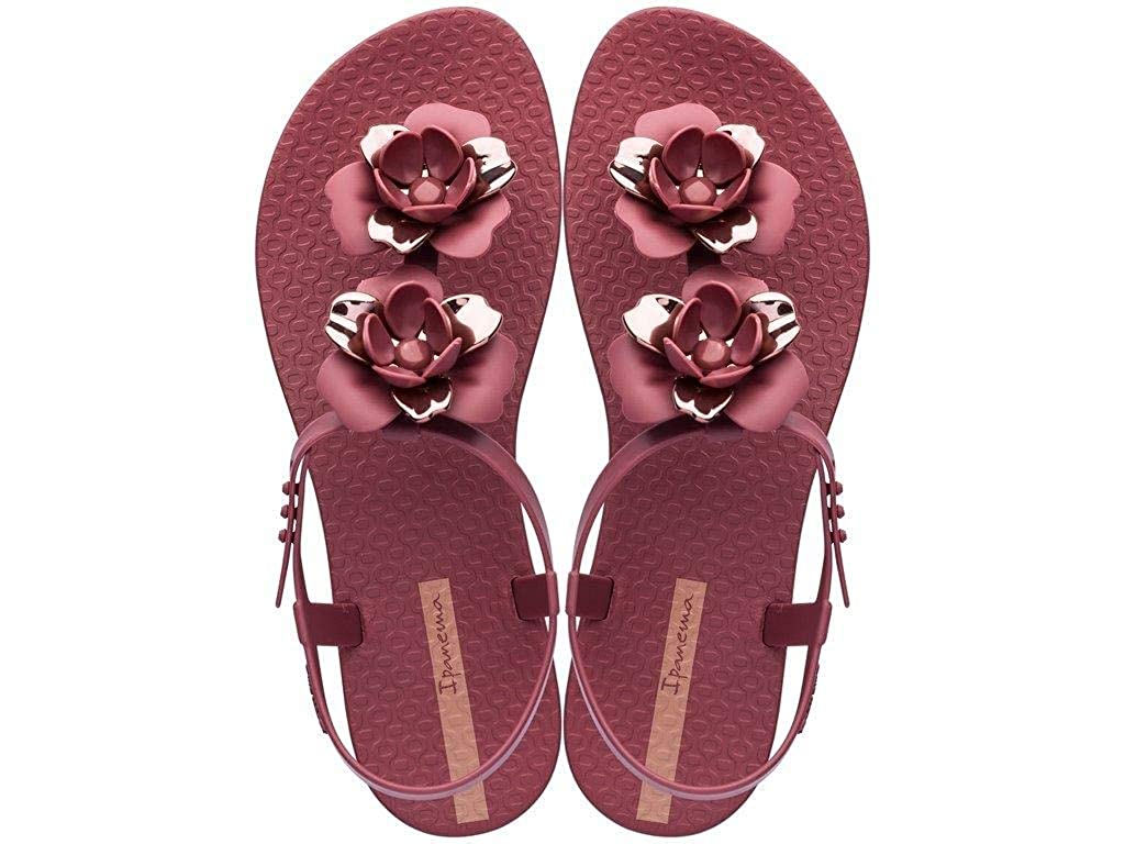 Ipanema Womens Floral Special Plastic Buckle Sandal Ivory