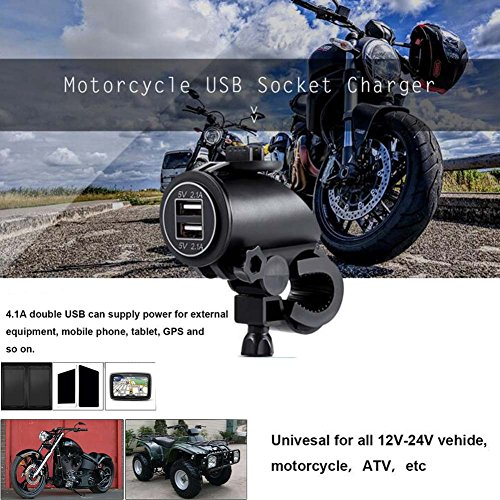 COROTC Motorcycle Charger USB Socket 12v Waterproof for Phone/Tablet/GPS/Vehicle with LED Light by COROTC (Image #2)