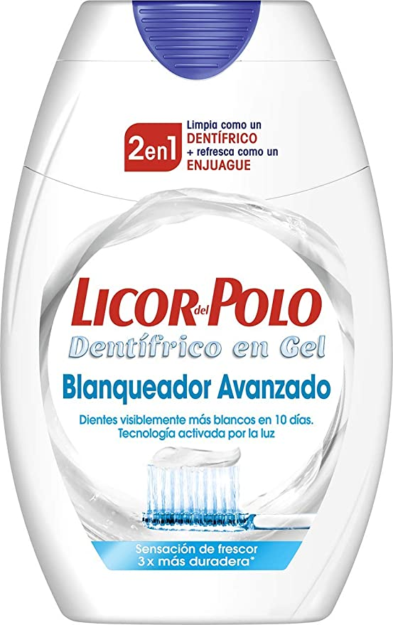 Licor del Polo - Pasta de dientes 2 en 1 Blanqueador avanzado - 6 ...