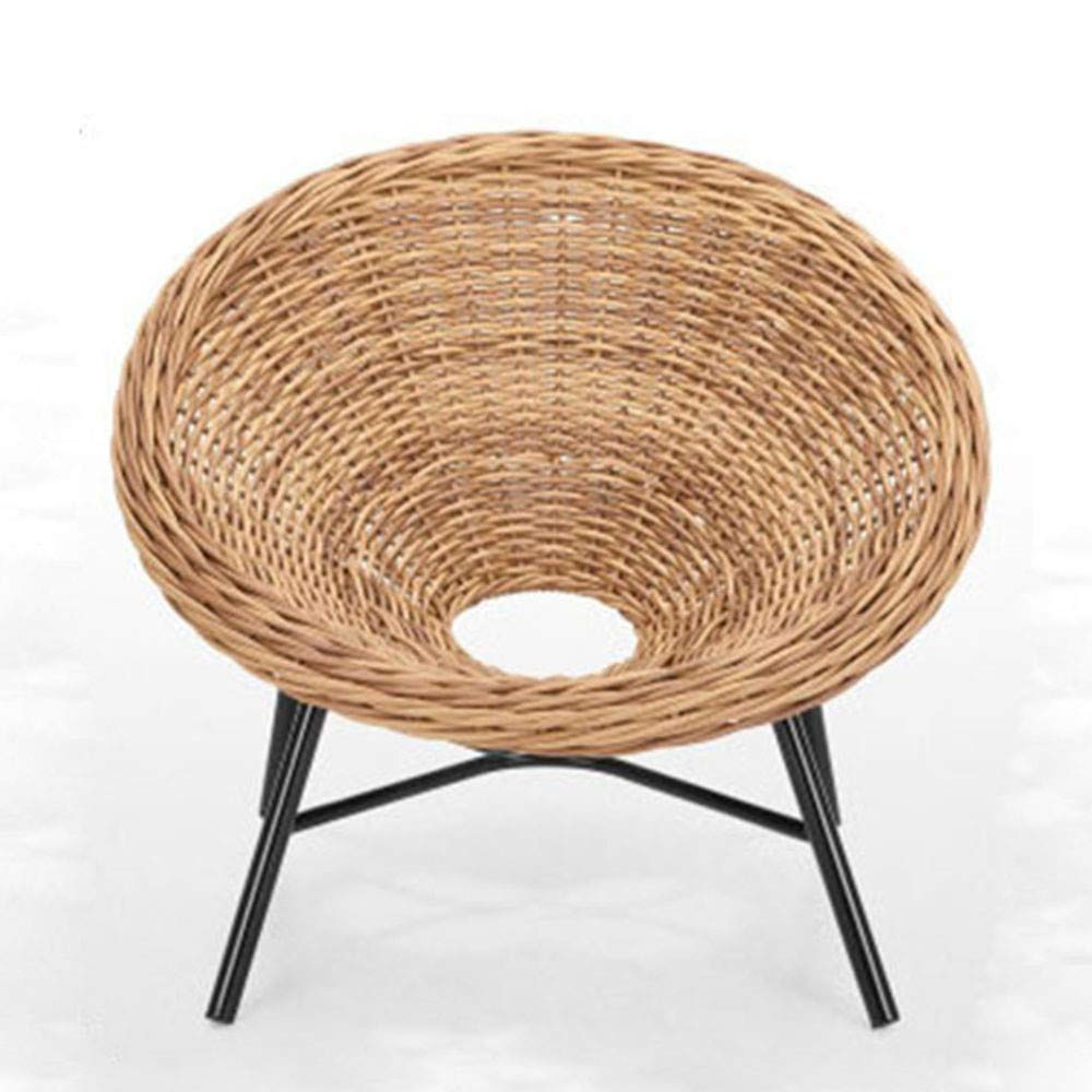 Amazon com seeksung chair eco friendly rattan armchair indoor and outdoor leisure chair handmade rattan sand booth single baby
