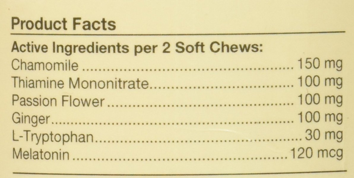 NaturVet Quiet Moments Soft Chews Safe Use Reduce Stress Travel Motion Sickness 180 Count: Amazon.es: Productos para mascotas