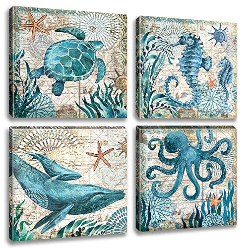 Art Underwater Pictures Seahorse Paintings product image