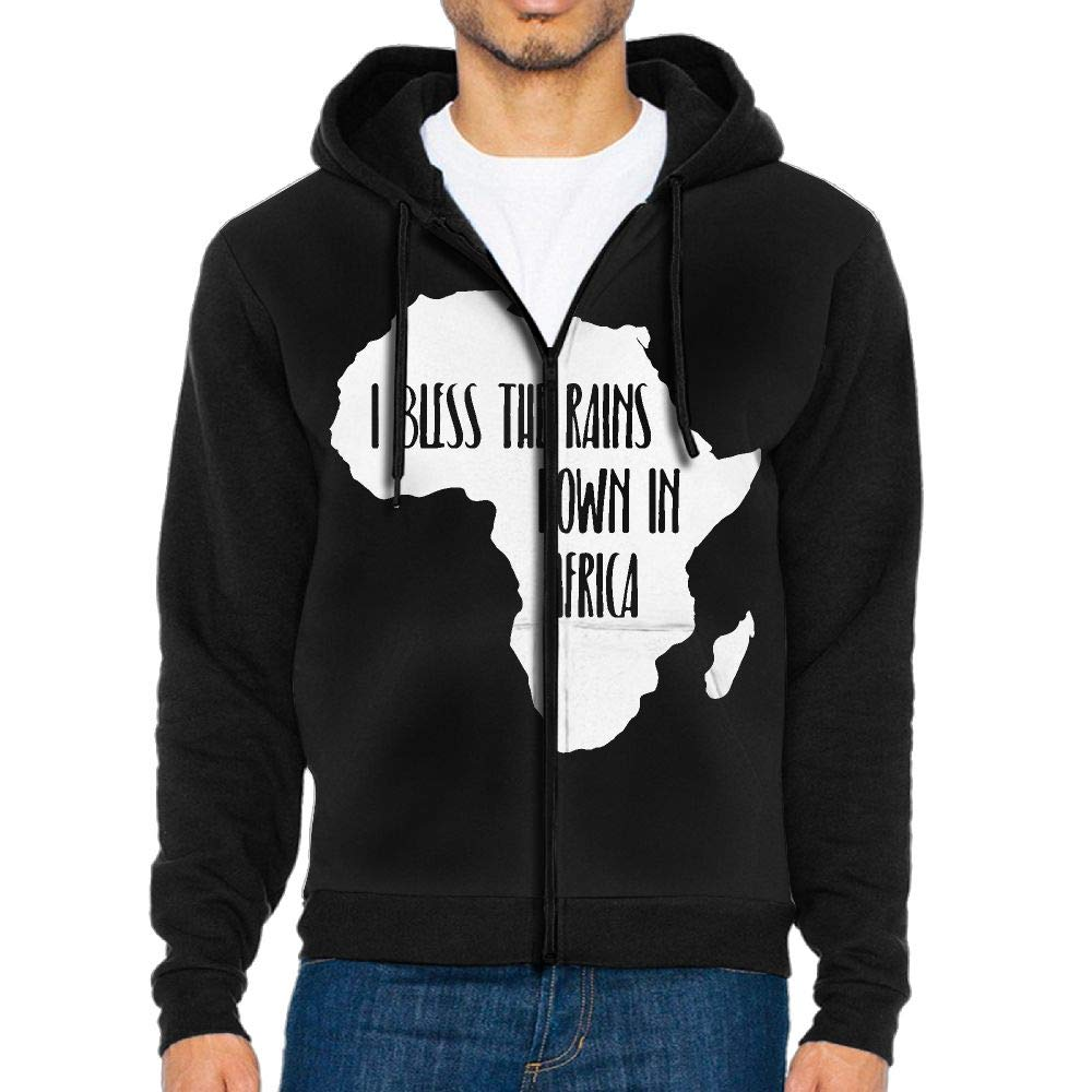 LMKJNGFD I Bless The Rains Down in Africa-1 Boys Adult Full Zip Fleece Hoodie Athletic Sweaters