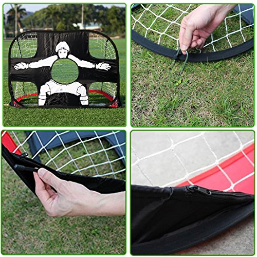 Eggsnow 2 in 1 Pop Up Kids Soccer Goal Portable Kids Soccer Net Kids Soccer Target with Carry Bag,Perfect for Indoor & Outdoor Sports and Practice by Eggsnow (Image #3)