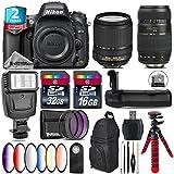 Holiday Saving Bundle for D610 DSLR Camera + 18-140mm VR Lens + Tamron 70-300mm Di LD Lens + Battery Grip + 6PC Graduated Color Filer Set + 2yr Extended Warranty + 32GB - International Version