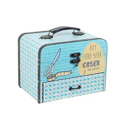 """Caja Costura Decorativa con Set de Costura""""Frase Original"""". Costureros. Cajas Multiusos"""