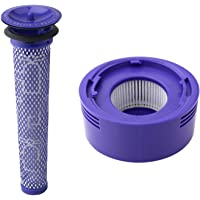Pre Filter + HEPA Post-Filter kit for Dyson V7, V8 Animal and Absolute Cordless Vacuum, Pre-Filter (DY-96566101) and…
