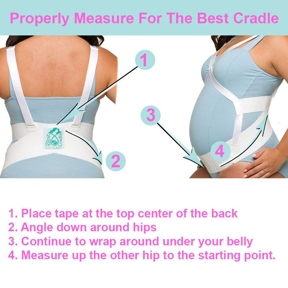 It's You Babe Best Cradle | Medical Grade Belly Band for Pregnancy Support & Pain Relief | Maternity Support Belt | Reimbursable FSA/HSA | Award Winning Pregnancy Belt, Medium by It's You Babe (Image #3)
