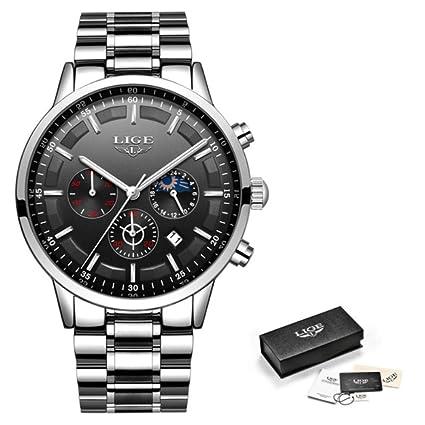 Amazon.com: LIGE Reloj de pulsera para hombre deportivo de ...