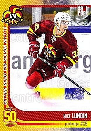Amazon Com Ci Mike Lundin Hockey Card 2017 18 Finnish Jokerit