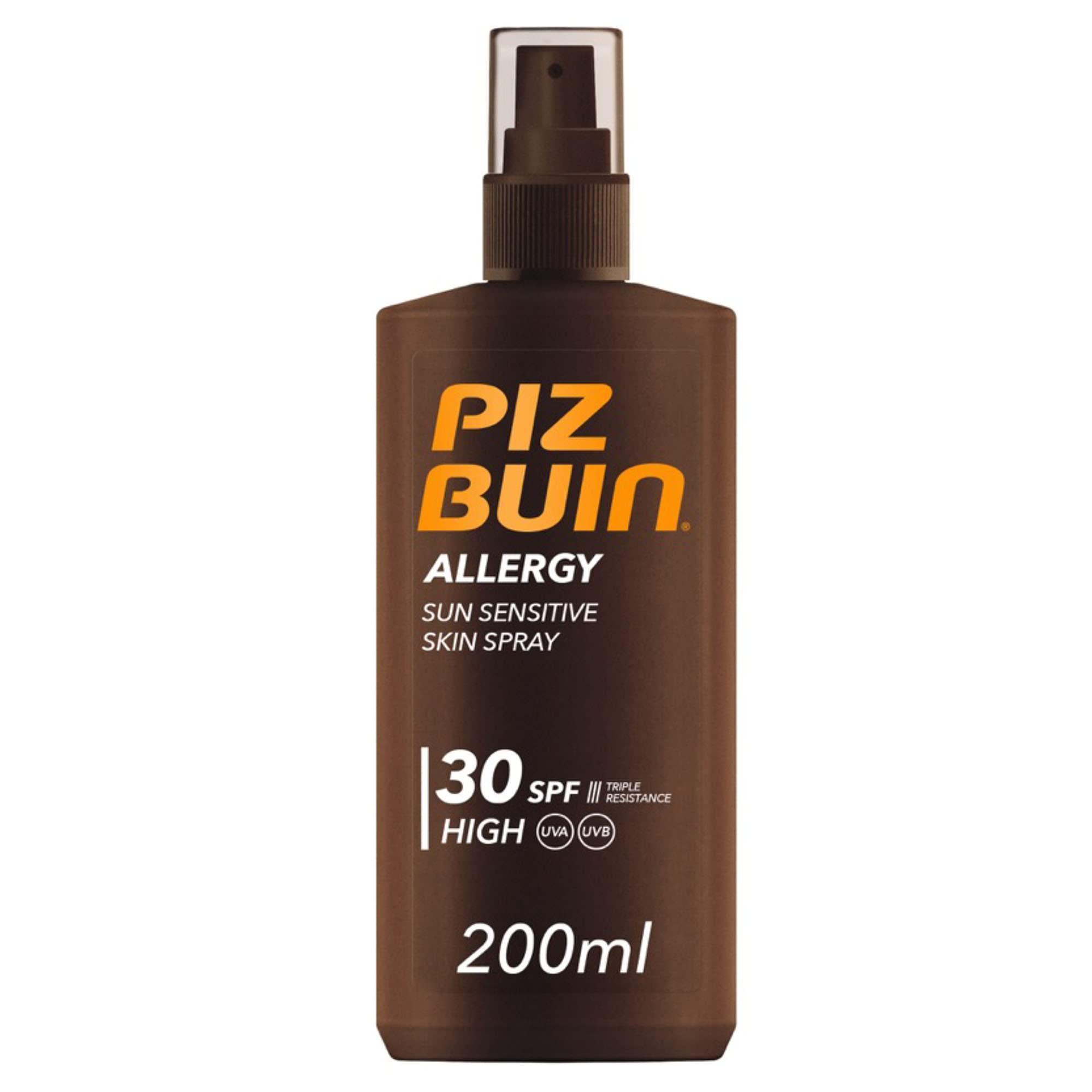 Piz Buin, Protector Solar Allergy Spray SPF 30 Protección Alta, 200 ml