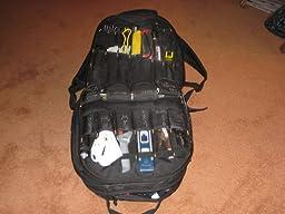 Custom LeatherCraft 1132 75-Pocket Tool Backpack - Tool