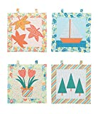 quilting pre cut kits - Connecting Threads Wall Hanging Quilting Kit (Four Seasons)