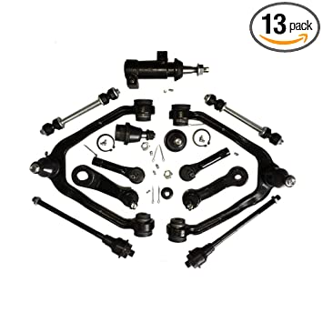 Idler Arm Assembly Steering Kit for Cadillac Escalade Chevrolet Avalanche 1500 Express 2500 Van Tahoe GMC Savana 2500 Van Yukon 3 Pc Idler /& Pitman Arm