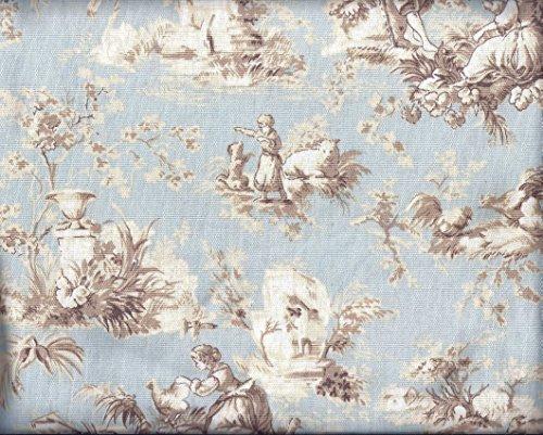 Lt Blue Toile Curtains