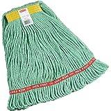 Rubbermaid Commercial Web Foot Wet Mop, Small, 1-Inch Yellow Headband, Green (FGA11106GR00)