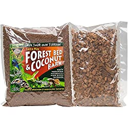 T-Rex Terra Mix Forest Bed & Coconut Bark Reptile Substrate, 6 Dry Quarts, Brown