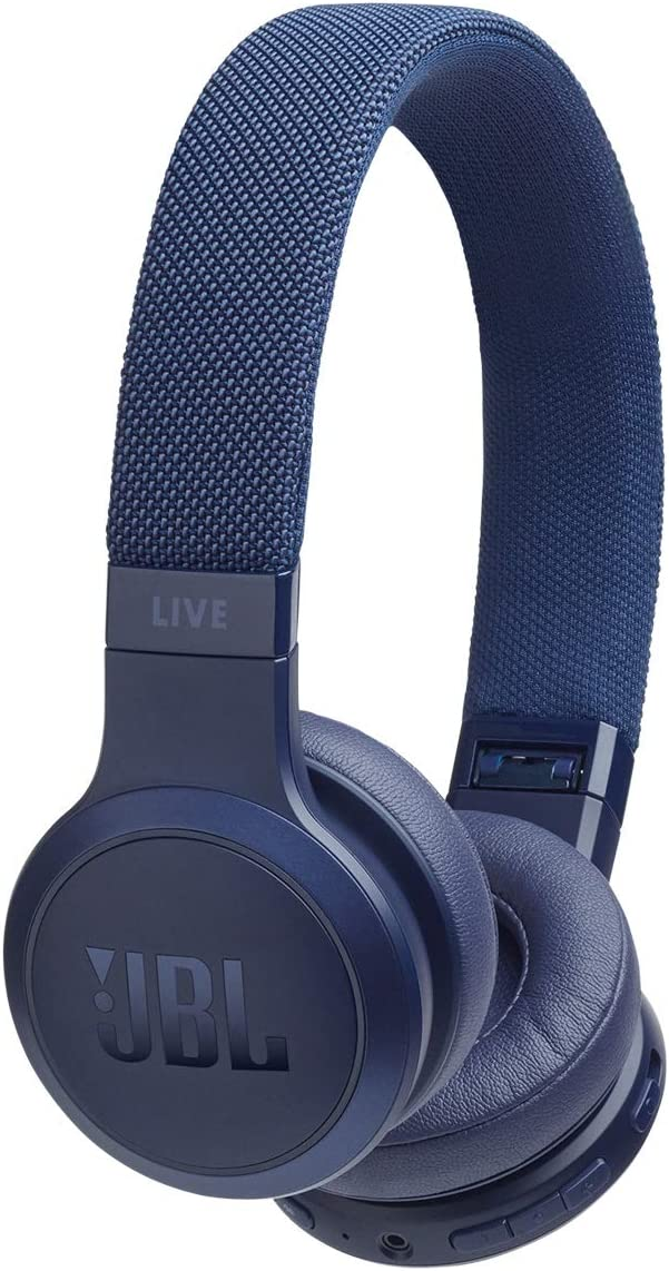 Amazon Com Jbl Live 400bt Wireless On Ear Bluetooth Headphones With Microphone Amazon Alexa Voice Control Up To 24 Hour Battery Works With Android And Apple Ios Blue Electronics