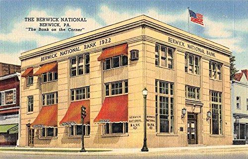 Berwick Pennsylvania View Of Berwick National Bank Linen Antique Pc Z46052