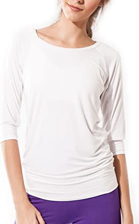bamboo clothing ladies fitness//leisure//pilates//yoga top S
