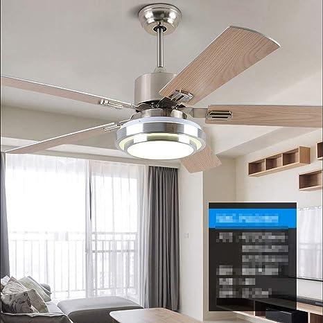 Ventiladores de Techo Lámparas de Luz Lámparas Eléctricas Sencillo Moderno Contemporáneo Led Hoja de Madera Diseño Simple Silencio Del Motor Atenuación 42 Lámpara de Lámpara de Techo de Ventilador d: Amazon.es: Deportes