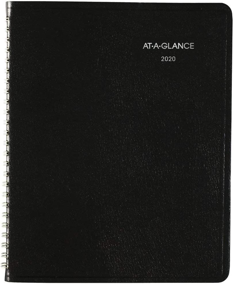 "AT-A-GLANCE 2020 Weekly Planner, DayMinder, 7"" x 8-3/4"", Medium, Black (G53500) (G5350020)"