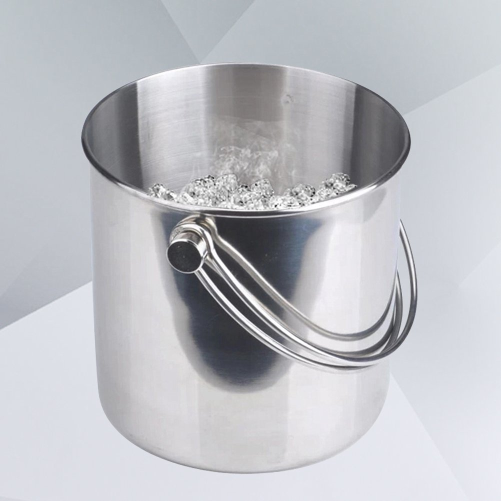BESTONZON Premium Stainless Steel Ice Bucket with Strainer and Tong Beer Wine Champagne Cooler (2L) by BESTONZON (Image #7)