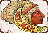 "7"" x 10"" METAL SIGN - Red Man Chewing Tobacco - Vintage Look Reproduction"