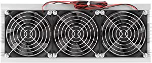 DIY Cooling Fan,Trinuclear Semiconductor Thermoelectric Cooler Peltier Refrigeration DIY Air Cooling Device for Small Space Cooling
