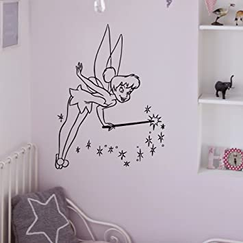 Beau Tinkerbell Wall Vinyl Decals Princess Silhouette Peter Pan Bedroom Decal  Wall Stickers Baby Nursery Wall Art
