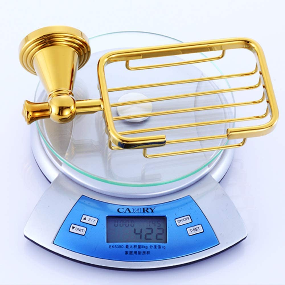 Luxury Gold Shower Corner Shelf Storage Rack Antique Brass Soap Basket Holder Toilet Wall Soap Dish Rack Accessories,Metallic