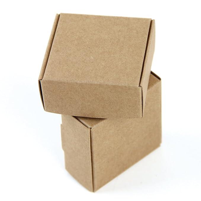 SUNBEAUTY Cajas Kraft marrón de la regalos, Cajas de Papel Kraft Marrón Cartón, Caja de Cartón Pequeño, 5.5 * 5.5 * 2.5cm (20 piezas): Amazon.es: Juguetes y ...