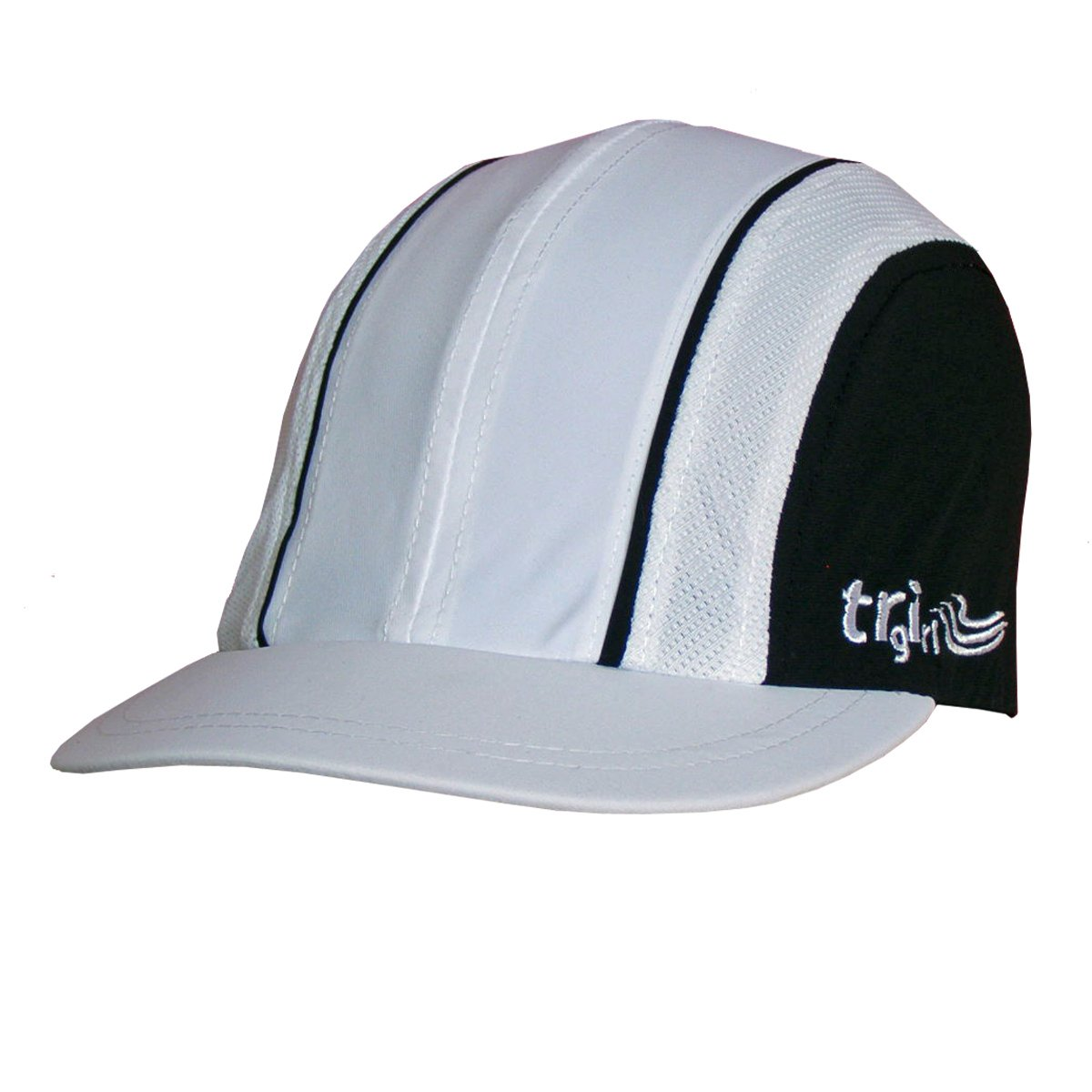 Trigirl Women's Technical Running Cap In Lycra Stretch - This Season's Colours - Lime Zest, Coral Reef, Ultramarine, White