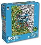 Karmin International Color a Puzzle - Mandalas Butterflies Design Puzzle (500 Piece)