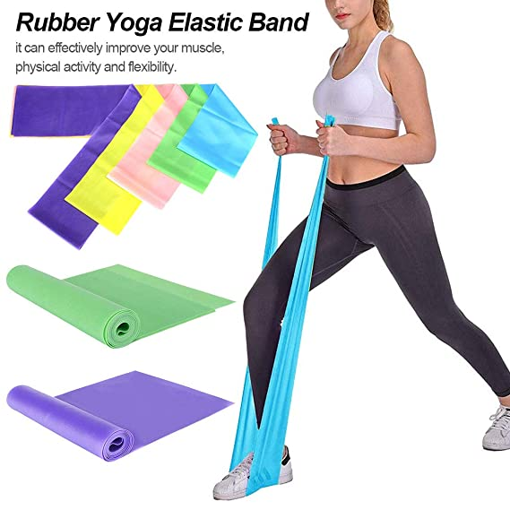 Pellisilot Fitness Resistance Band/Rubber Yoga Elastic Band ...