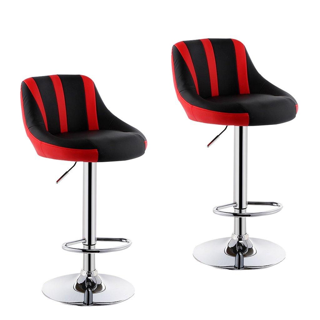 XUEPING 360度回転テレスコピックオフィスチェア美容椅子バースツールチェア美容椅子四季シングル/ダブルバースツールチェアカラーカウンターチェア (色 : D, サイズ さいず : 二) B07CVGKG3M 二|D D 二