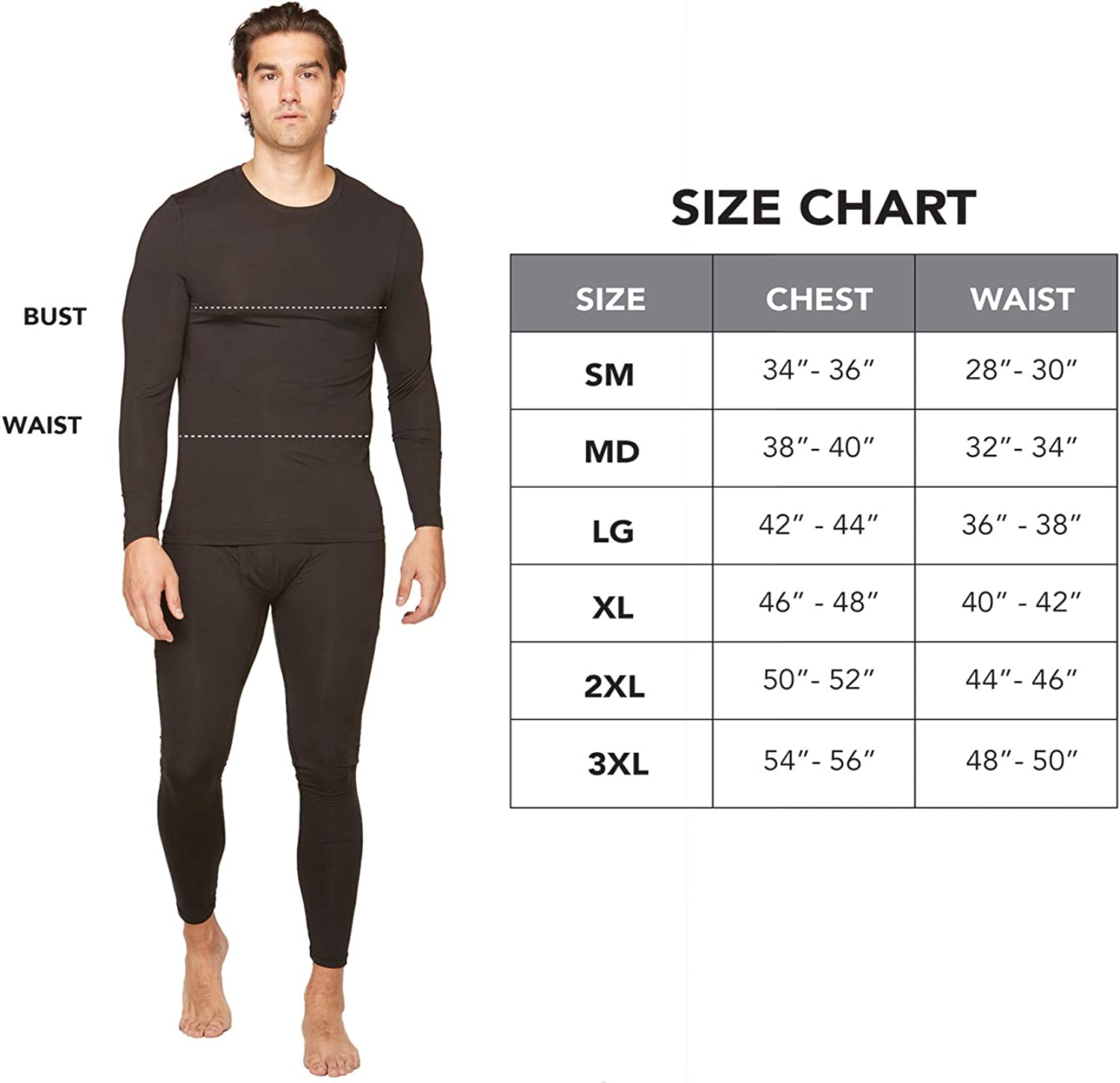 Black X-Large, Level 2- Light Weight Colossum Outdoors Men/'s Multi Level Base Layer Cold Weather Thermal Bottoms