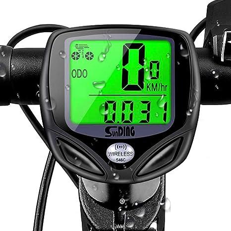 DOOK Ciclo computador, Cuentakilómetros IPX6 Impermeable Multifuncional - Ordenador para Bicicleta con Pantalla LCD, Incorporado, Sensor 3D, Distancia/Tiempo/Temperatura de Seguimiento: Amazon.es: Deportes y aire libre