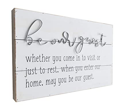 Giftme 5 Wooden Wall Art Be Our Guest Metal Sign Wood Wall Plaque Signs Guest Room Home Decor