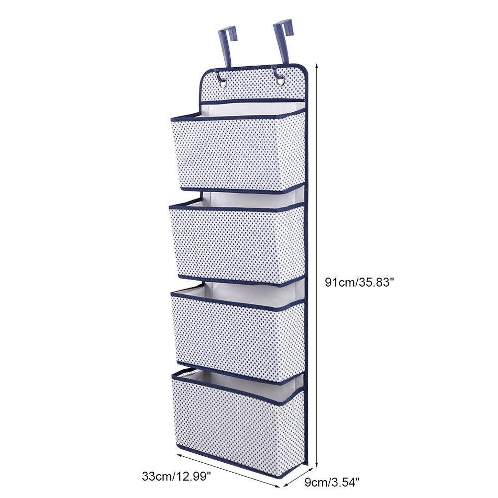 4stufige Vlies H/ängeaufbewahrung Tasche gro/ßen Kapazit/ät h/ängen KleiderschrankOrganizer mit 4 Sp/ätjungen 12,9 x 3.5 x 35,8 Beige Zerone T/ür h/ängen Veranstalter
