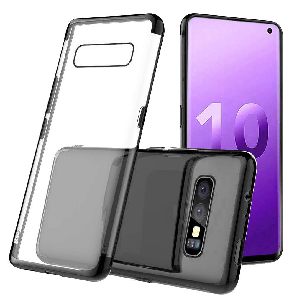 Waterproof-Case-with-Built- Screen-Protector,For Samsung-S10e -5.6inch-Clear-Case,Shock-proof-Protective-TPU-Gel Cover (Black)