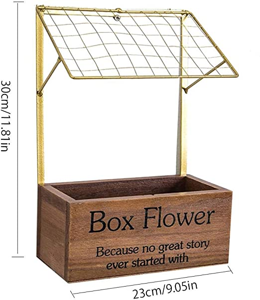Cubo de Flor Artificial Creativo Maceta de Flores de Madera Mercado para Flor artesanía de Madera Olla con Retro Innovador Cesta de almacenaje Pared Cuadrada para Cocina: Amazon.es: Hogar