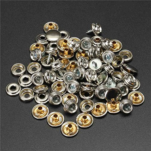 Marine Hardware 75 Pcs 15mm Snap Fastener Button Screw Studs Kit For Boat Cover Tent Accessories Diversified In Packaging Atv,rv,boat & Other Vehicle